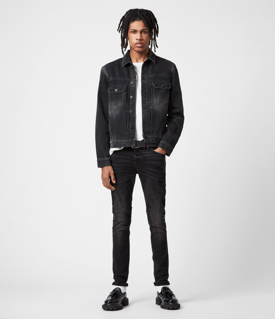 Men's Ronnie Extra Skinny Jeans, Washed Black (washed_black) - Image 4