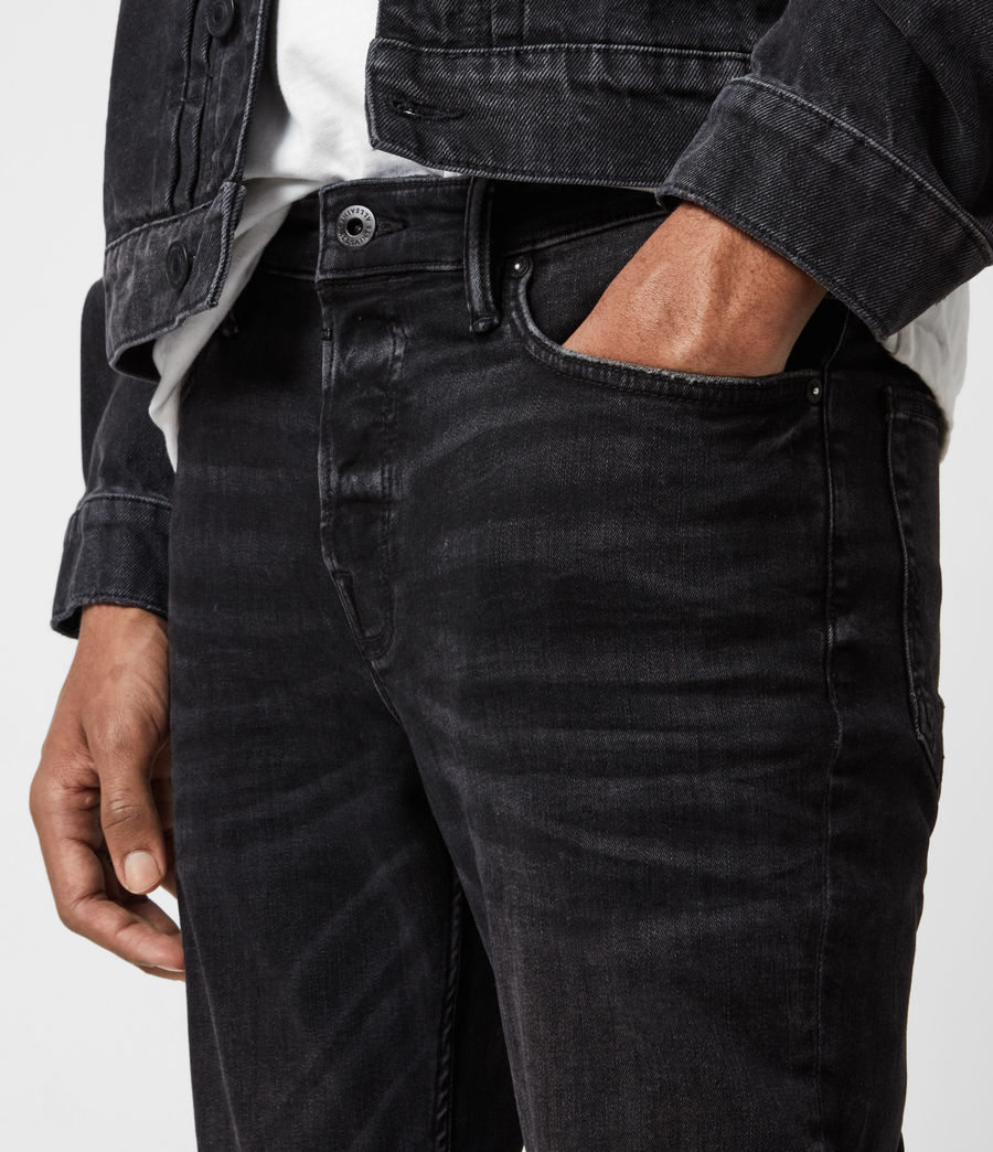 Men's Ronnie Extra Skinny Jeans, Washed Black (washed_black) - Image 6
