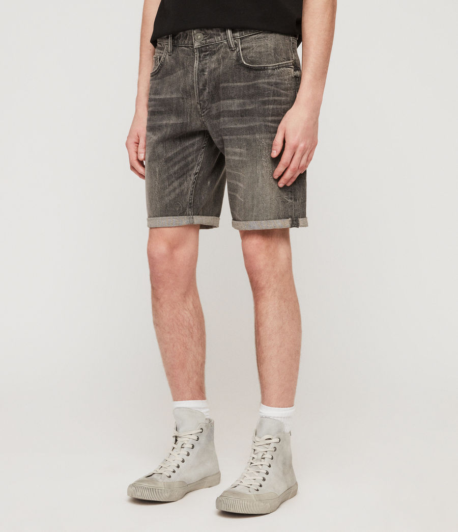 Men's Switch Denim Shorts (grey) - Image 2