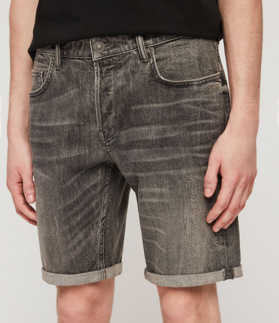 Men's Switch Denim Shorts (grey) - Image 4