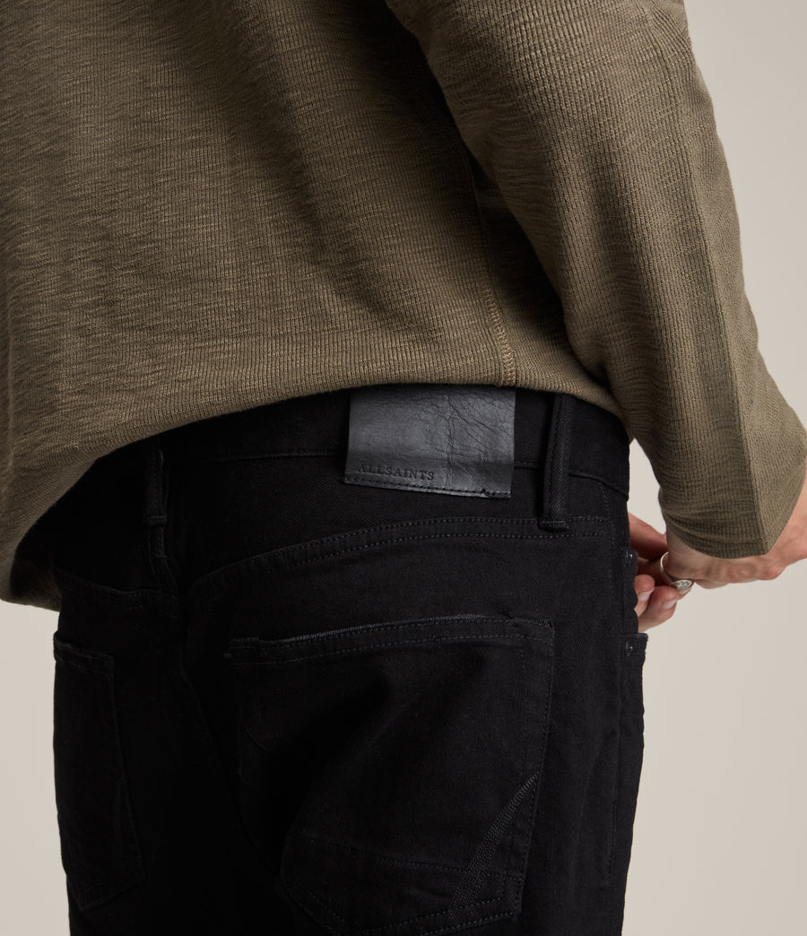 Uomo Jeans Cigarette - Aderenti - Nero (jet_black) - Image 3