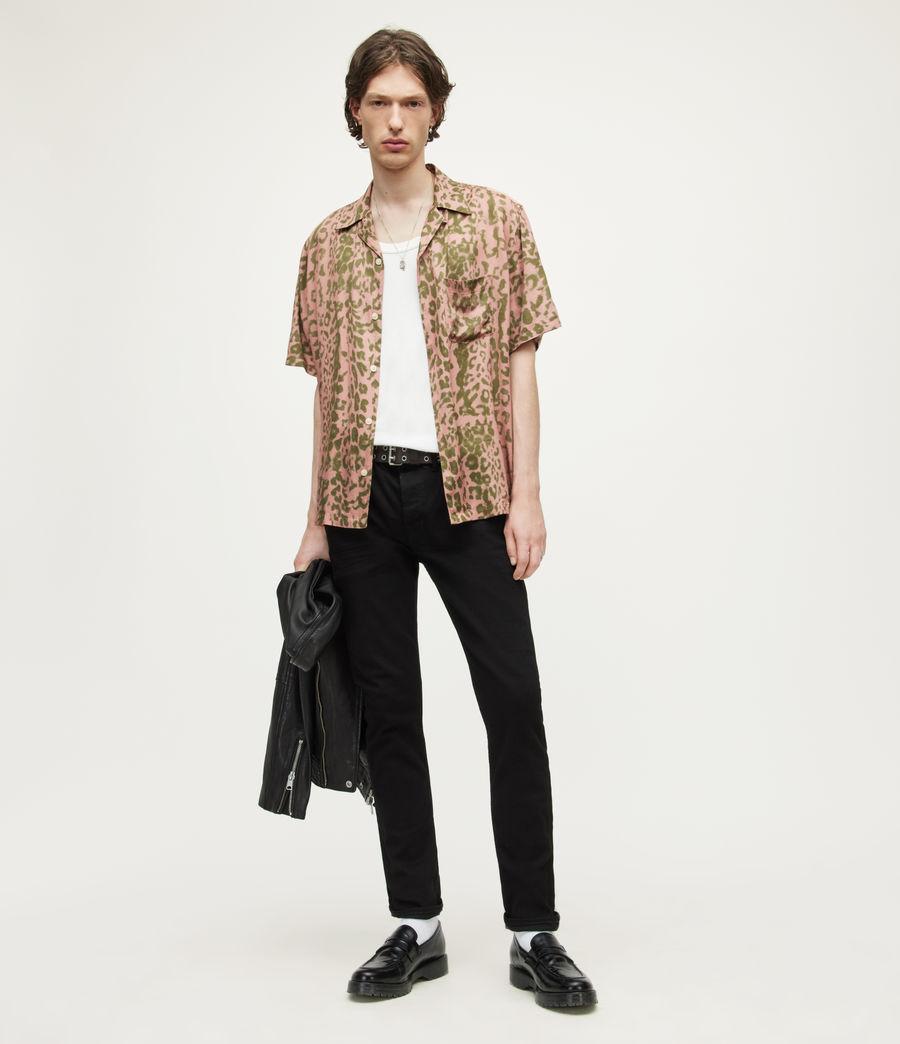 Men's Cigarette Skinny Jeans (jet_black) - Image 4
