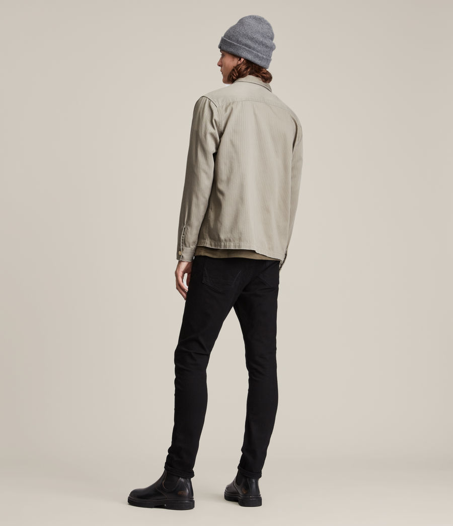 Men's Cigarette Skinny Jeans (jet_black) - Image 5