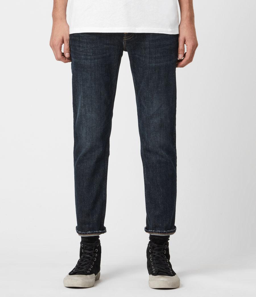 Men's Dean Cropped Slim Jeans, Dark Indigo (dark_indigo) - Image 1
