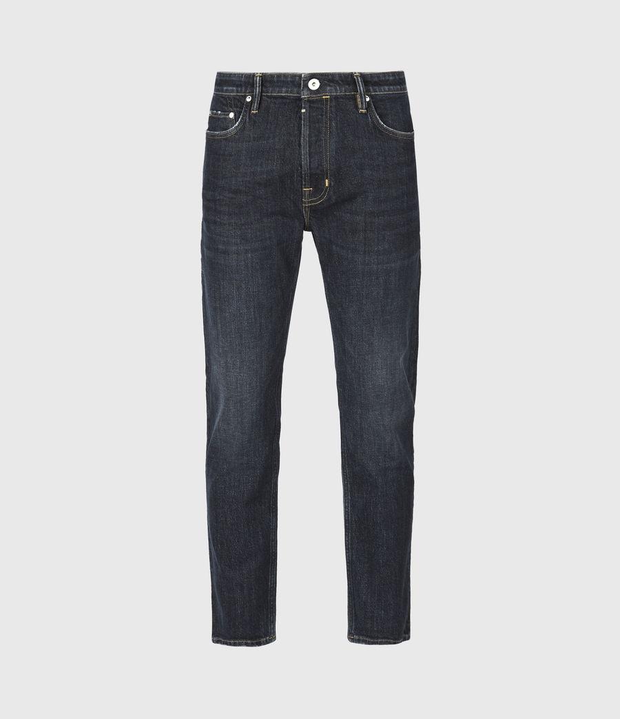 Men's Dean Cropped Slim Jeans, Dark Indigo (dark_indigo) - Image 2