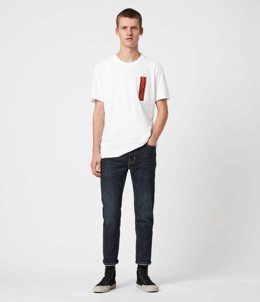 Men's Dean Cropped Slim Jeans, Dark Indigo (dark_indigo) - Image 4