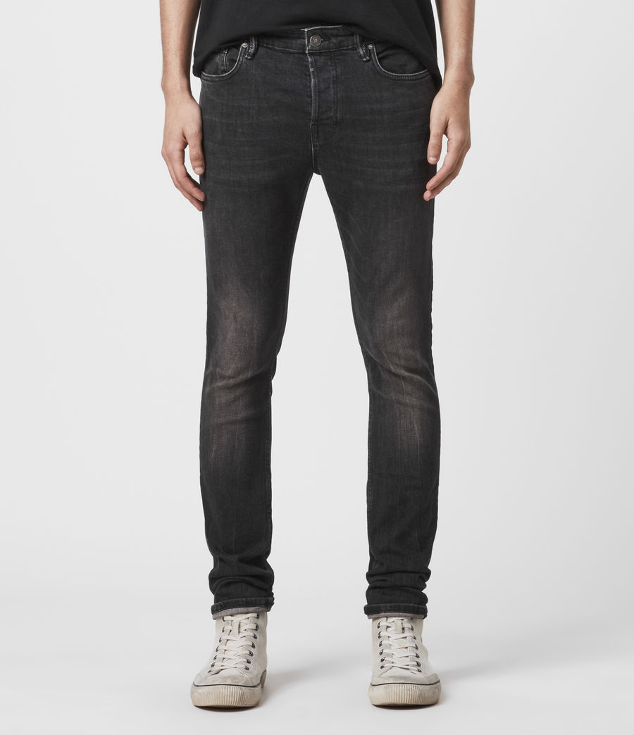 Men's Cigarette Skinny Jeans (black) - Image 1