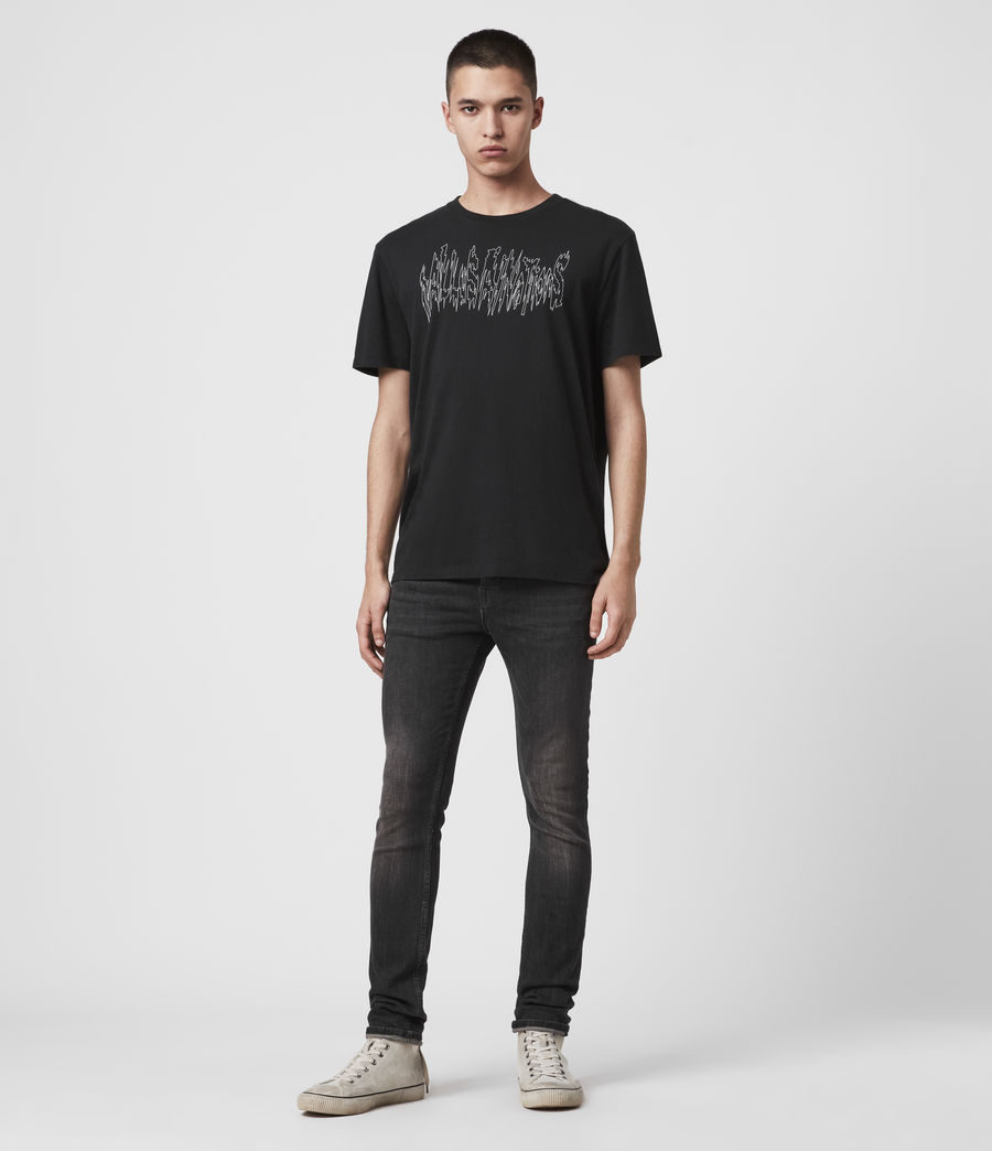 Men's Cigarette Skinny Jeans (black) - Image 3