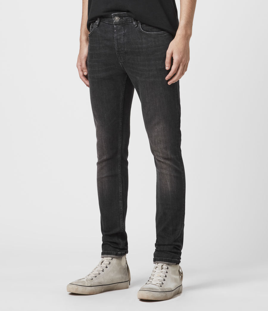 Men's Cigarette Skinny Jeans (black) - Image 4
