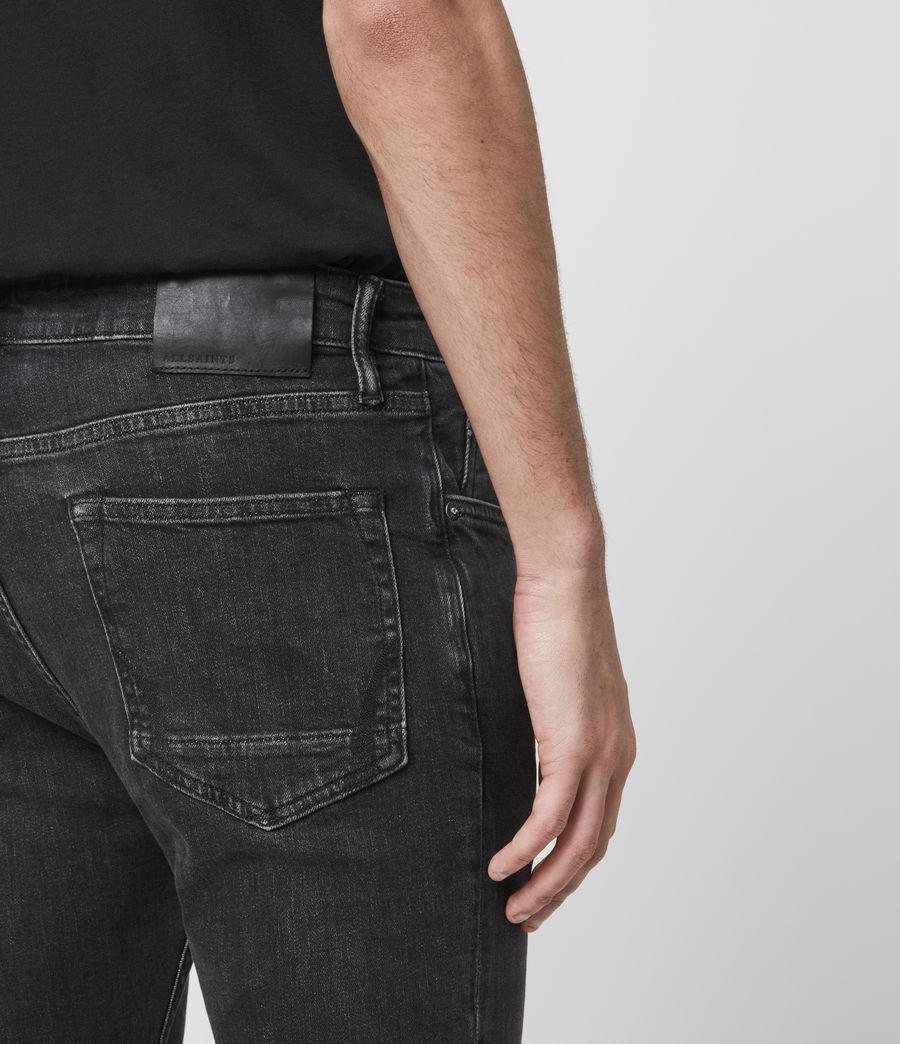 Men's Cigarette Skinny Jeans, Black (black) - Image 5