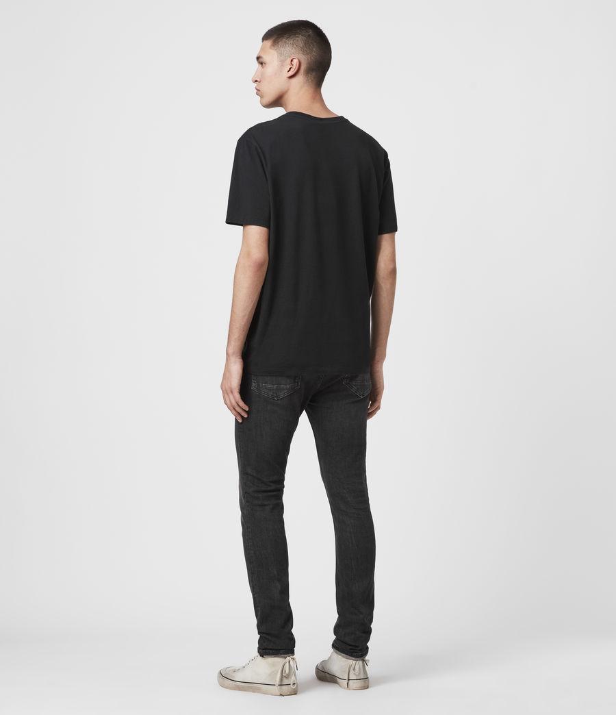Men's Cigarette Skinny Jeans, Black (black) - Image 6