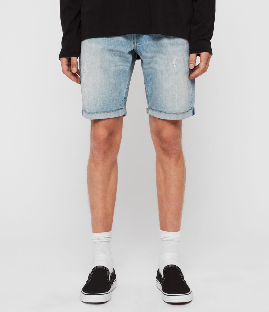 Men's Switch Denim Shorts (light_indigo_blue) - Image 1