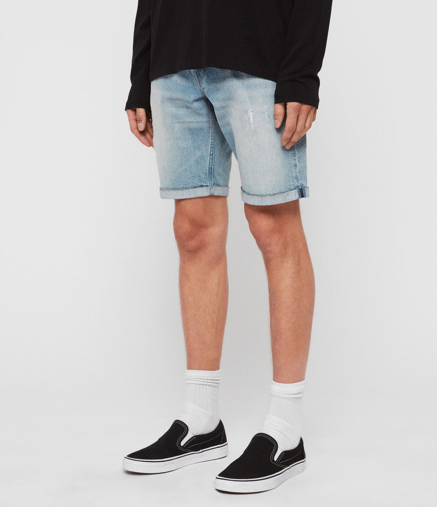 Men's Switch Denim Shorts (light_indigo_blue) - Image 2