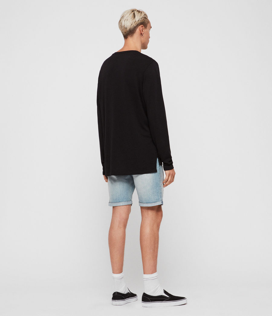 Men's Switch Denim Shorts (light_indigo_blue) - Image 5