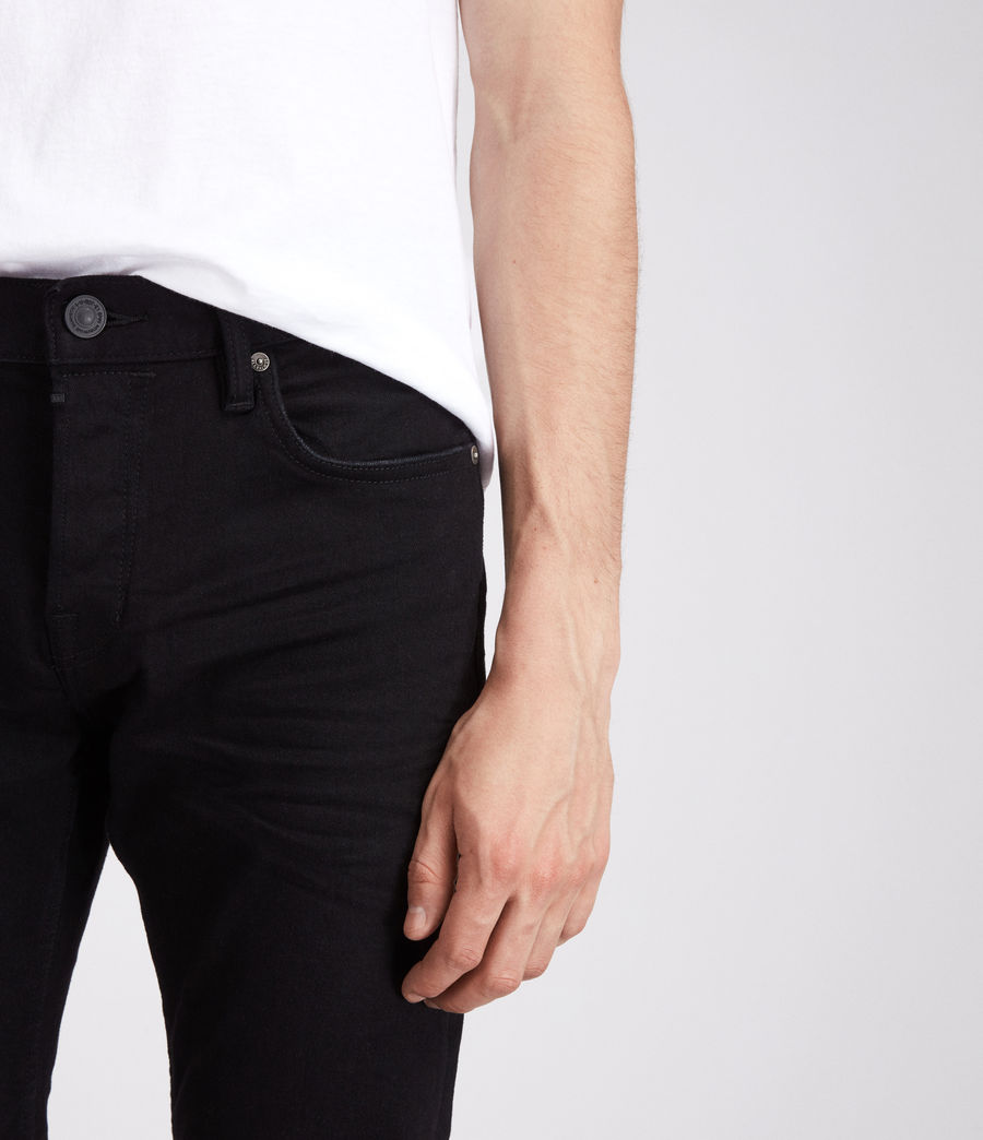 Mens Bodmin Reed Straight Jeans (black) - Image 2