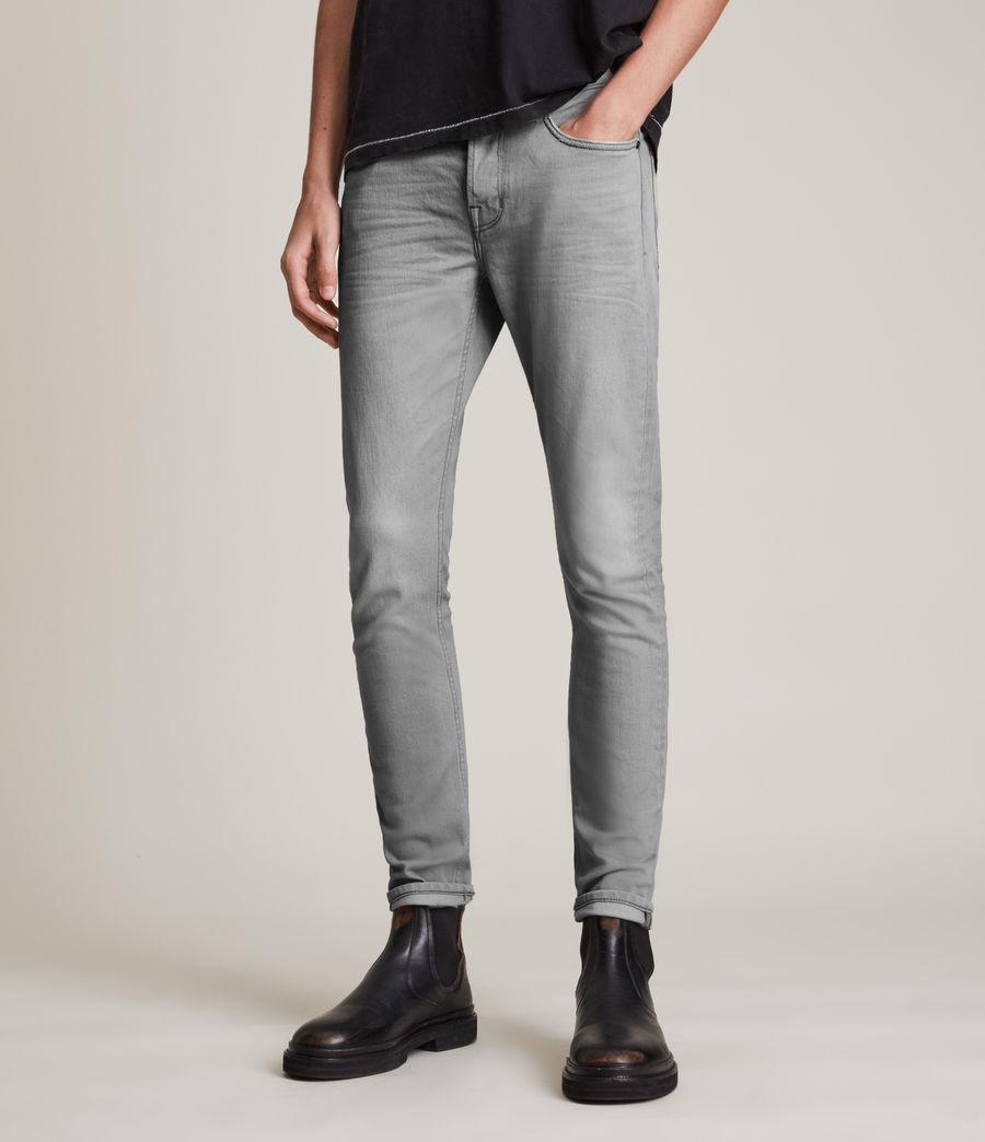 Hombre Jeans Cigarette Skinny (grey) - Image 1