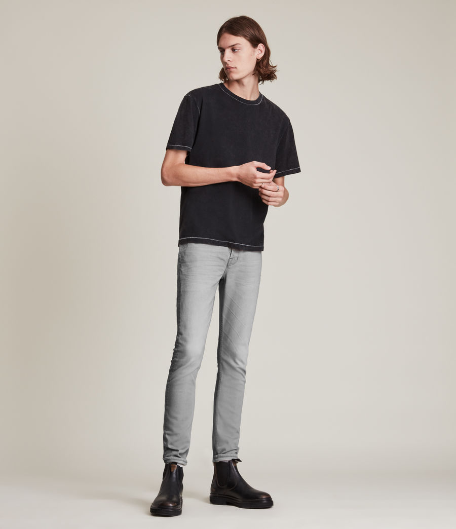Hombre Jeans Cigarette Skinny (grey) - Image 2
