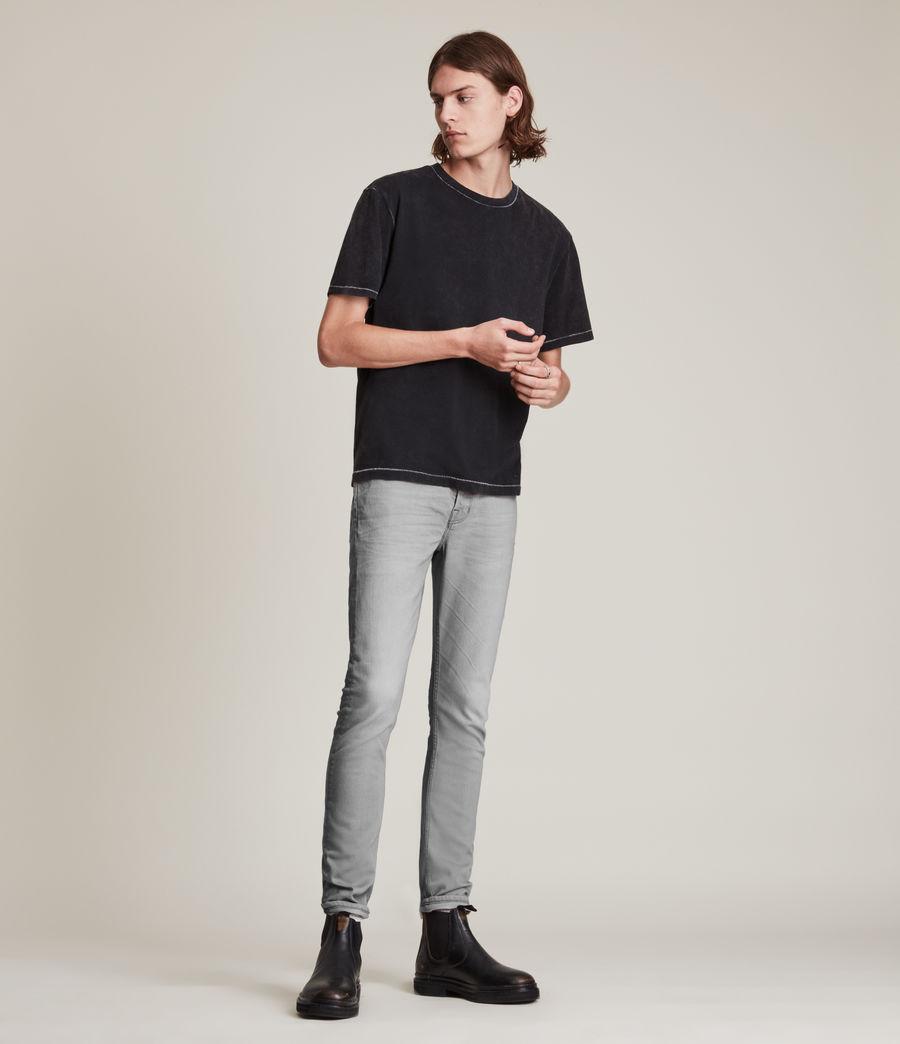 Hombre Jeans Cigarette Skinny (grey) - Image 2