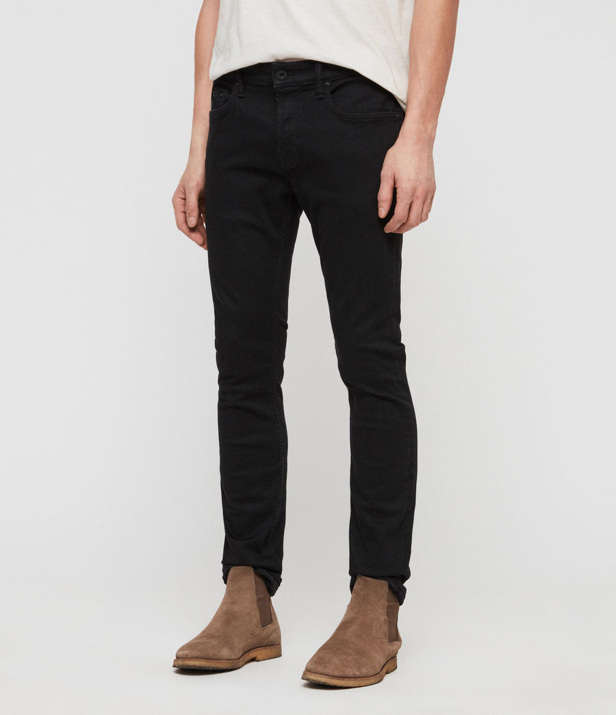Herren Cole Cigarette Skinny Jeans (washed_black) - Image 2