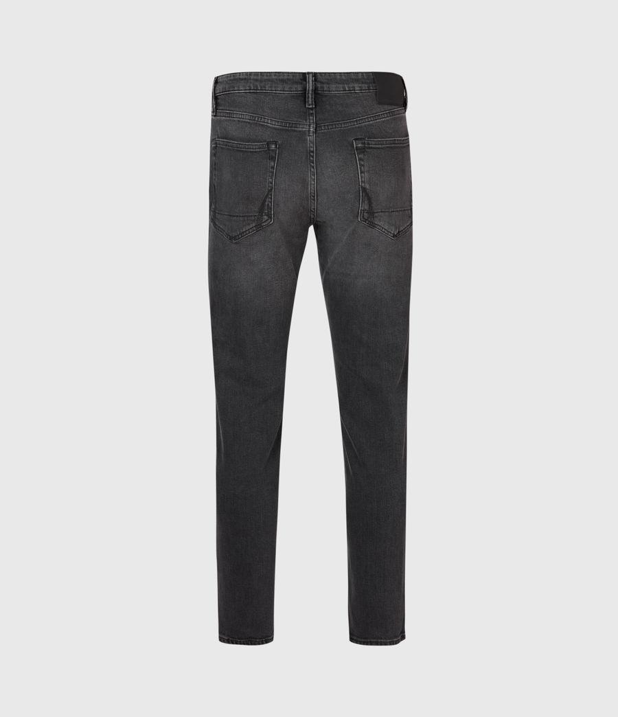 Mens Dean Cropped Slim Jeans, Washed Black (washed_black) - Image 3