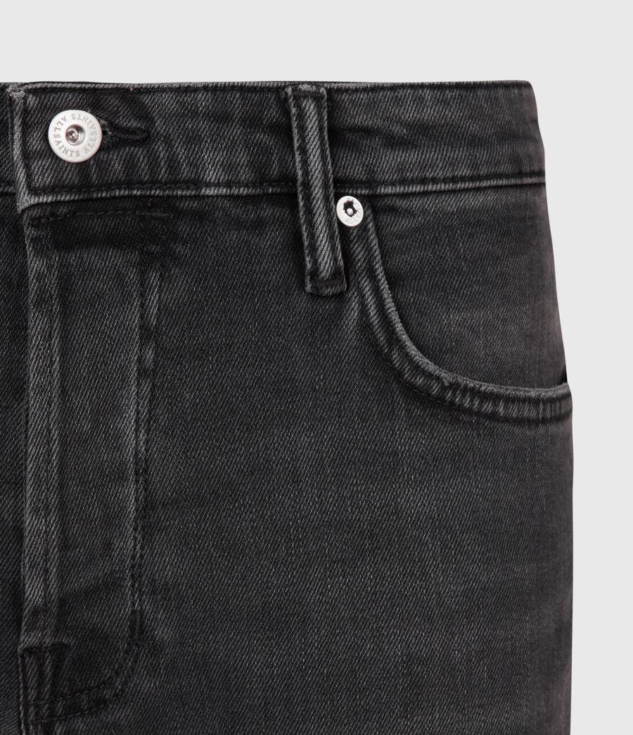 Mens Dean Cropped Slim Jeans, Washed Black (washed_black) - Image 5