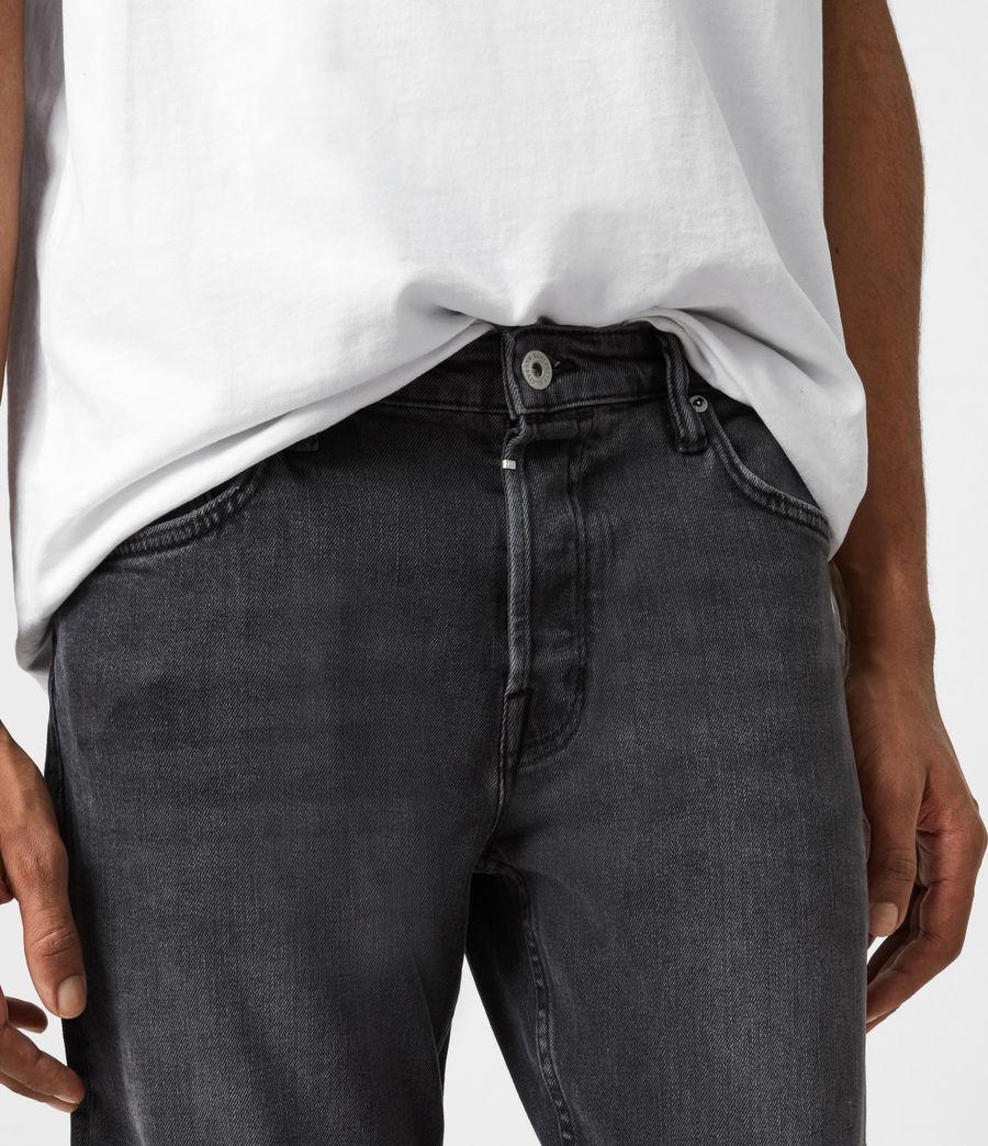 Mens Dean Cropped Slim Jeans, Washed Black (washed_black) - Image 6