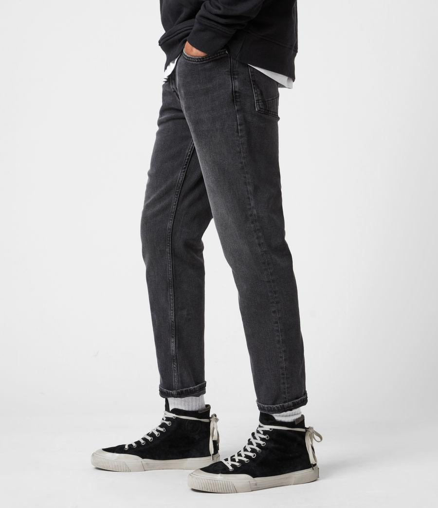 Mens Dean Cropped Slim Jeans, Washed Black (washed_black) - Image 7