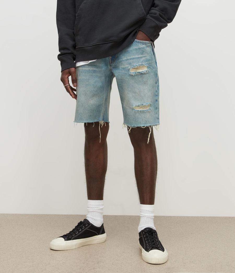 Men's Switch Damaged Denim Shorts (dirty_indigo) - Image 2