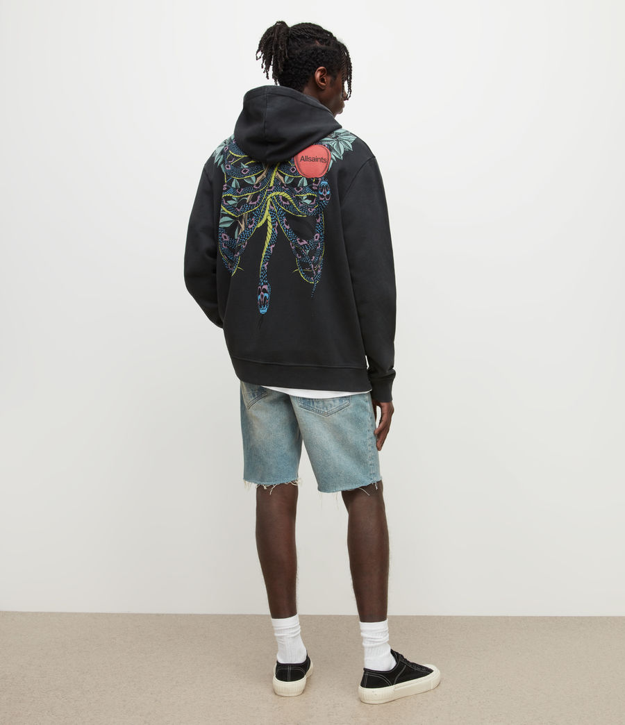 Men's Switch Damaged Denim Shorts (dirty_indigo) - Image 4