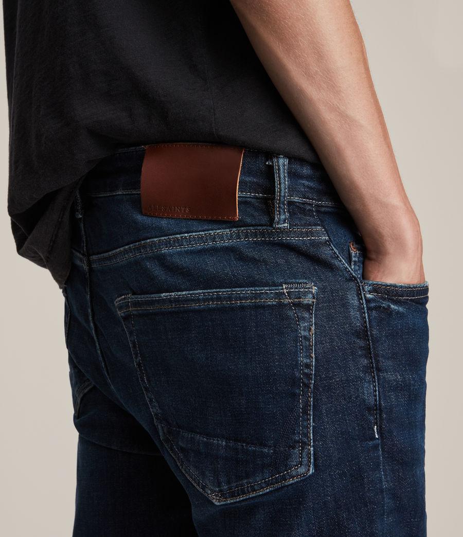 Mens Cigarette Skinny Jeans, Indigo (indigo) - Image 3