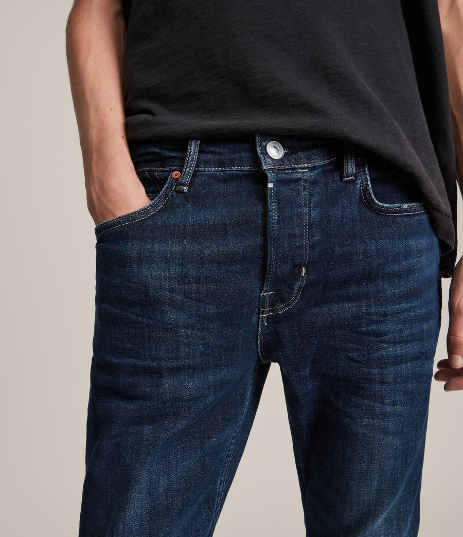 Mens Cigarette Skinny Jeans, Indigo (indigo) - Image 5