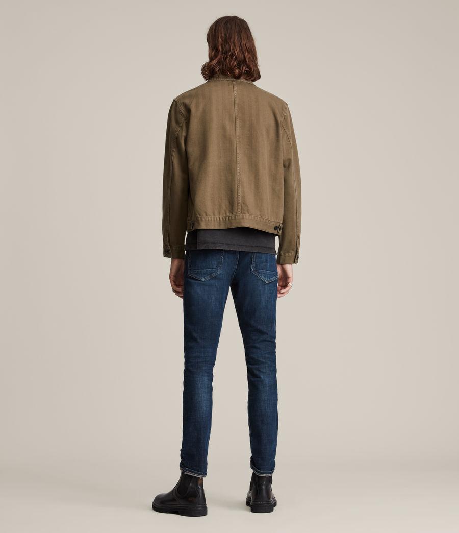 Mens Cigarette Skinny Jeans, Indigo (indigo) - Image 4