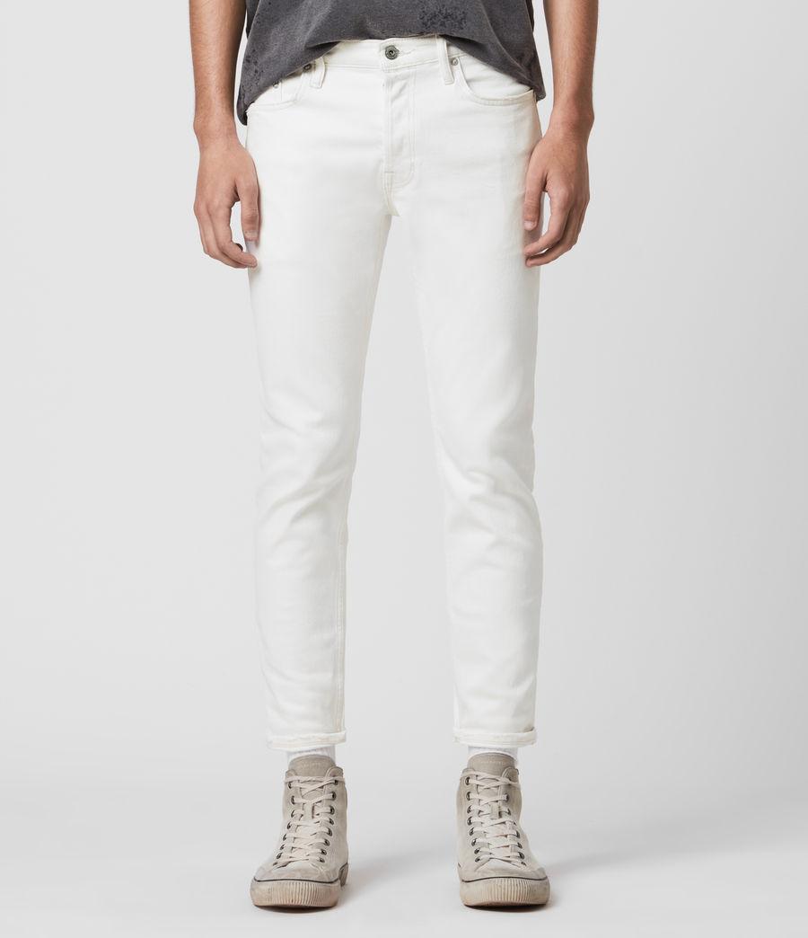 Men's Dean Cropped Slim Jeans, White (white) - Image 1