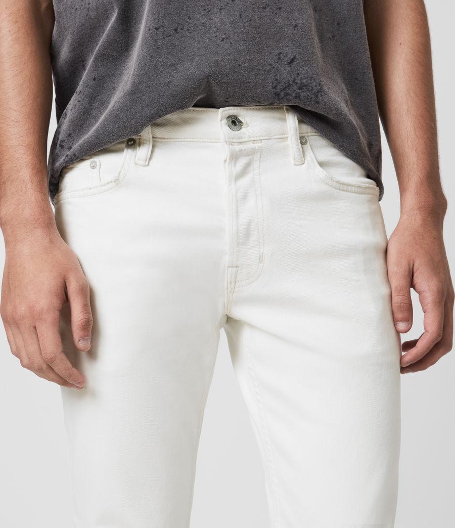 Men's Dean Cropped Slim Jeans, White (white) - Image 2