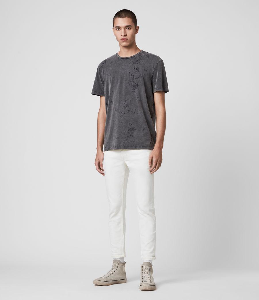 Men's Dean Cropped Slim Jeans, White (white) - Image 3
