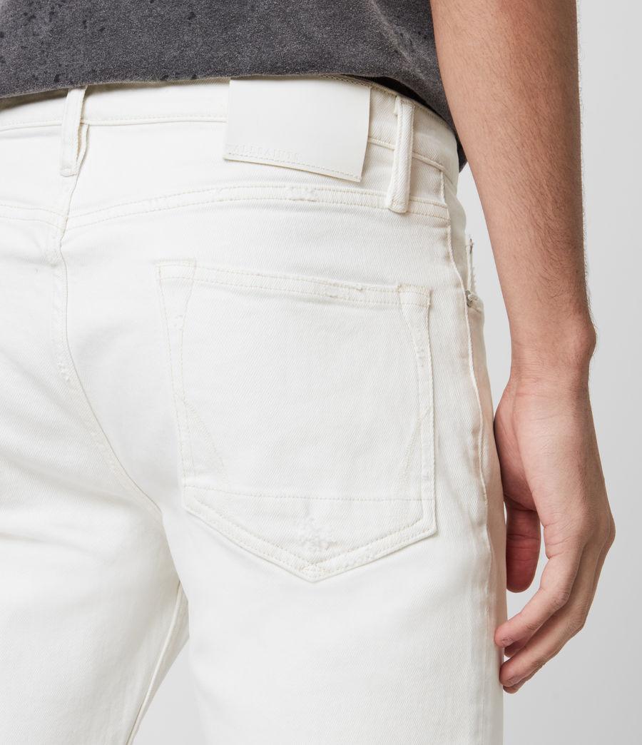 Men's Dean Cropped Slim Jeans, White (white) - Image 5