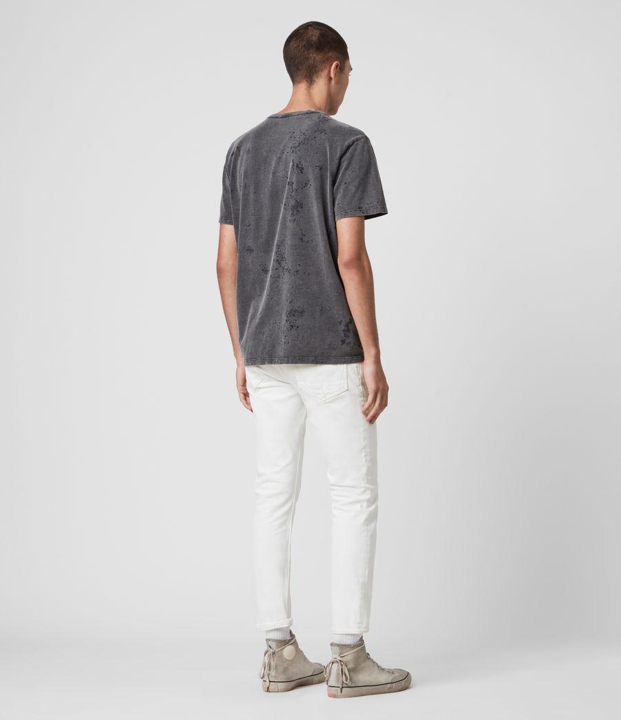 Mens Dean Cropped Slim Jeans, White (white) - Image 6