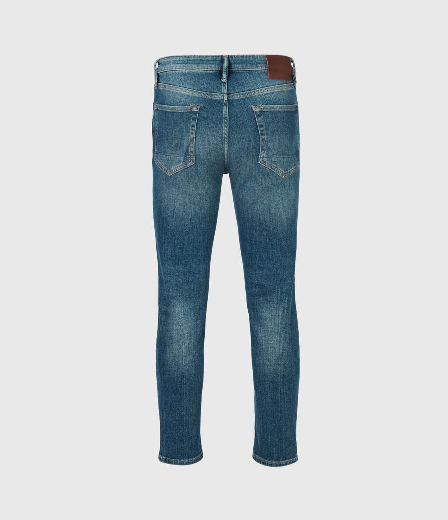 Mens Dean Cropped Slim Jeans, Mid Indigo (mid_indigo) - Image 3