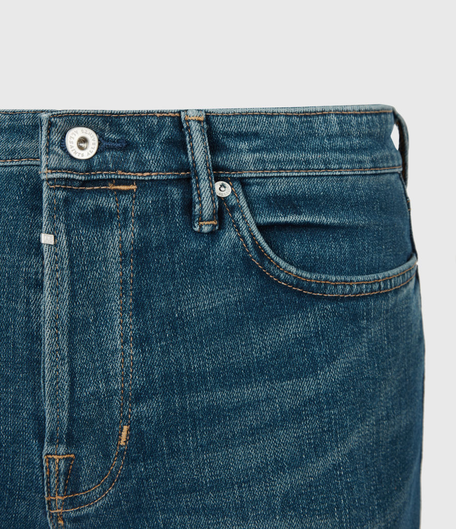 Mens Dean Cropped Slim Jeans, Mid Indigo (mid_indigo) - Image 5