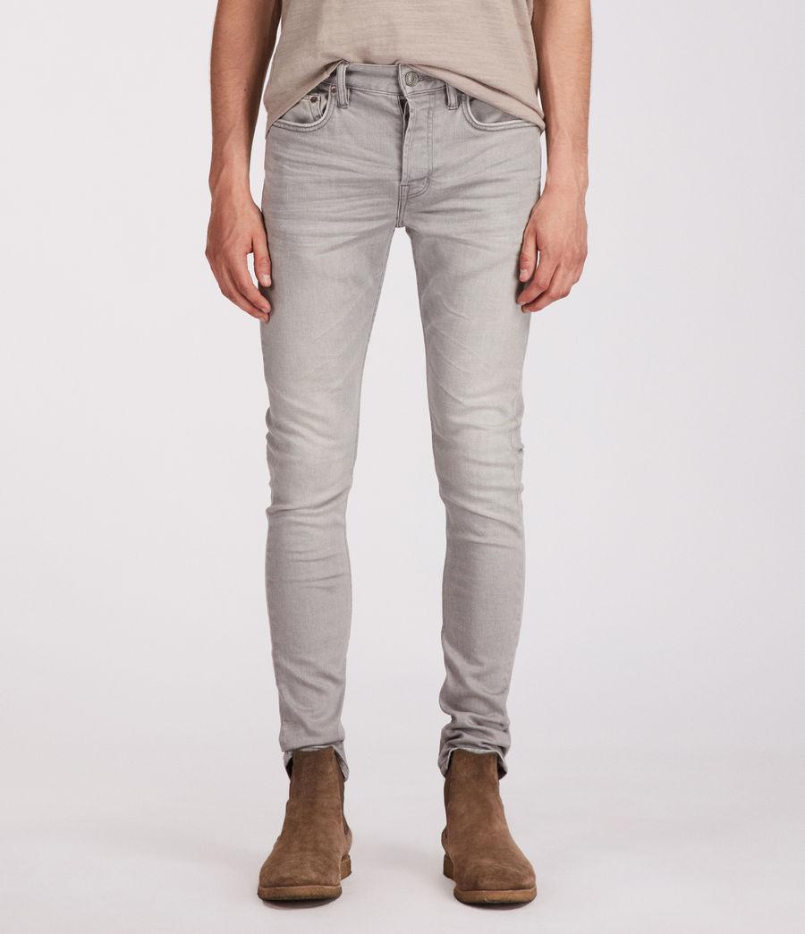 Men's Ghoul Cigarette Skinny Jeans (grey) - Image 1