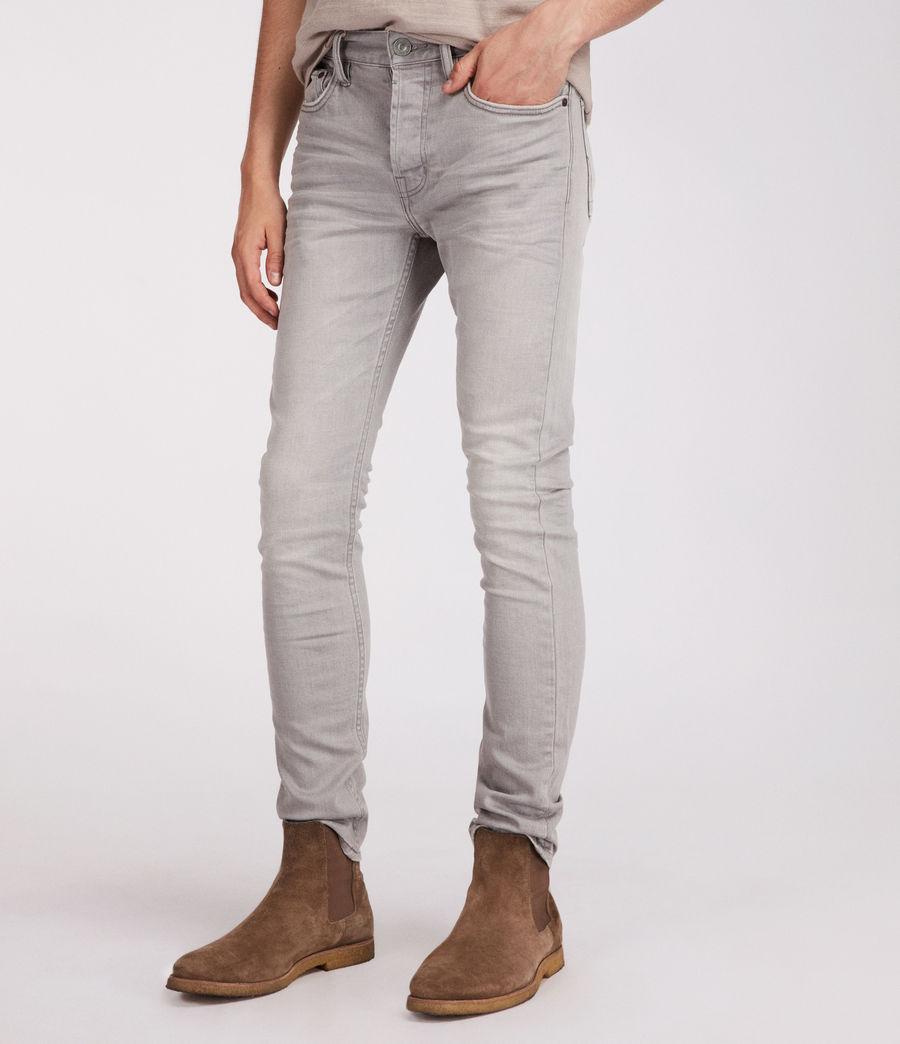 Men's Ghoul Cigarette Skinny Jeans (grey) - Image 3