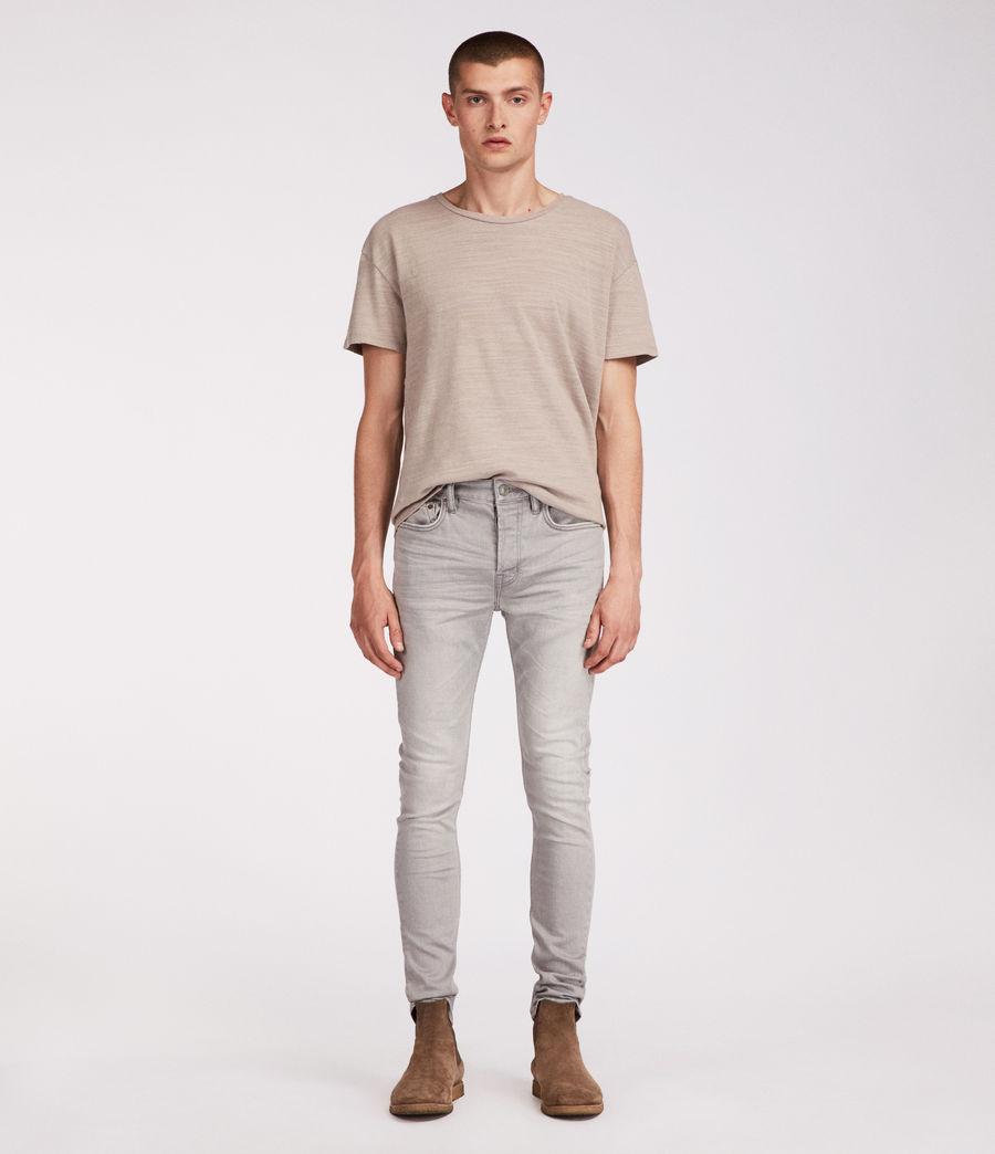 Men's Ghoul Cigarette Skinny Jeans (grey) - Image 4