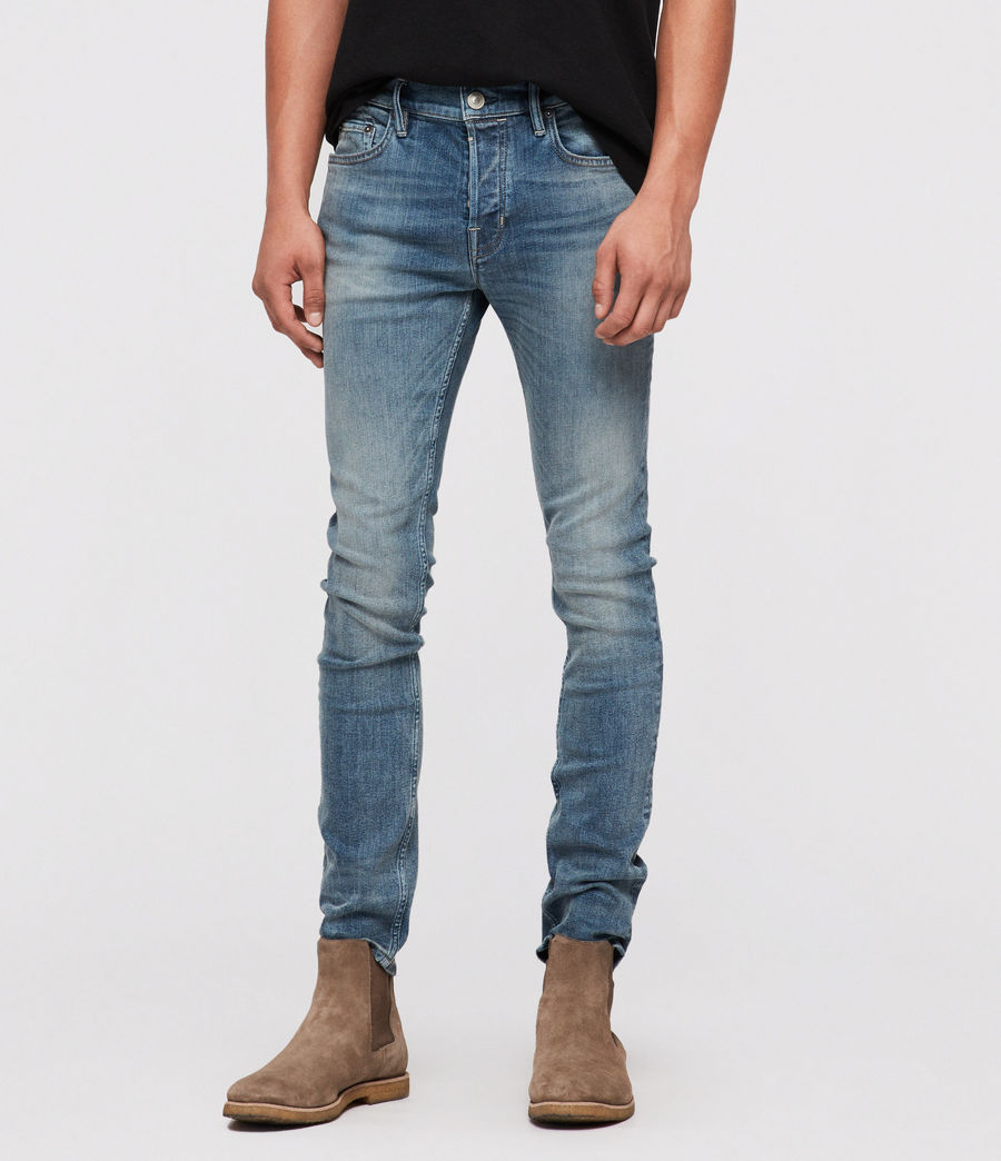 Mens Cigarette Skinny Jeans (mid_indigo) - Image 1