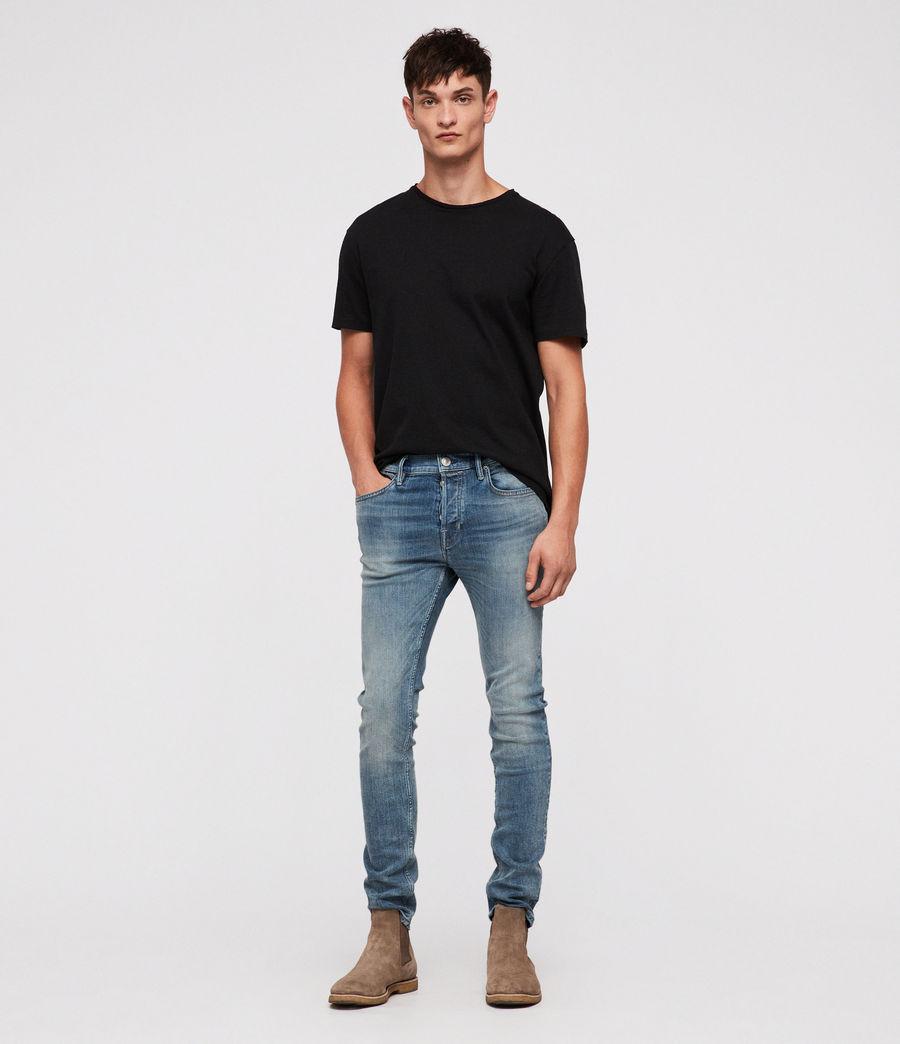Mens Cigarette Skinny Jeans (mid_indigo) - Image 2