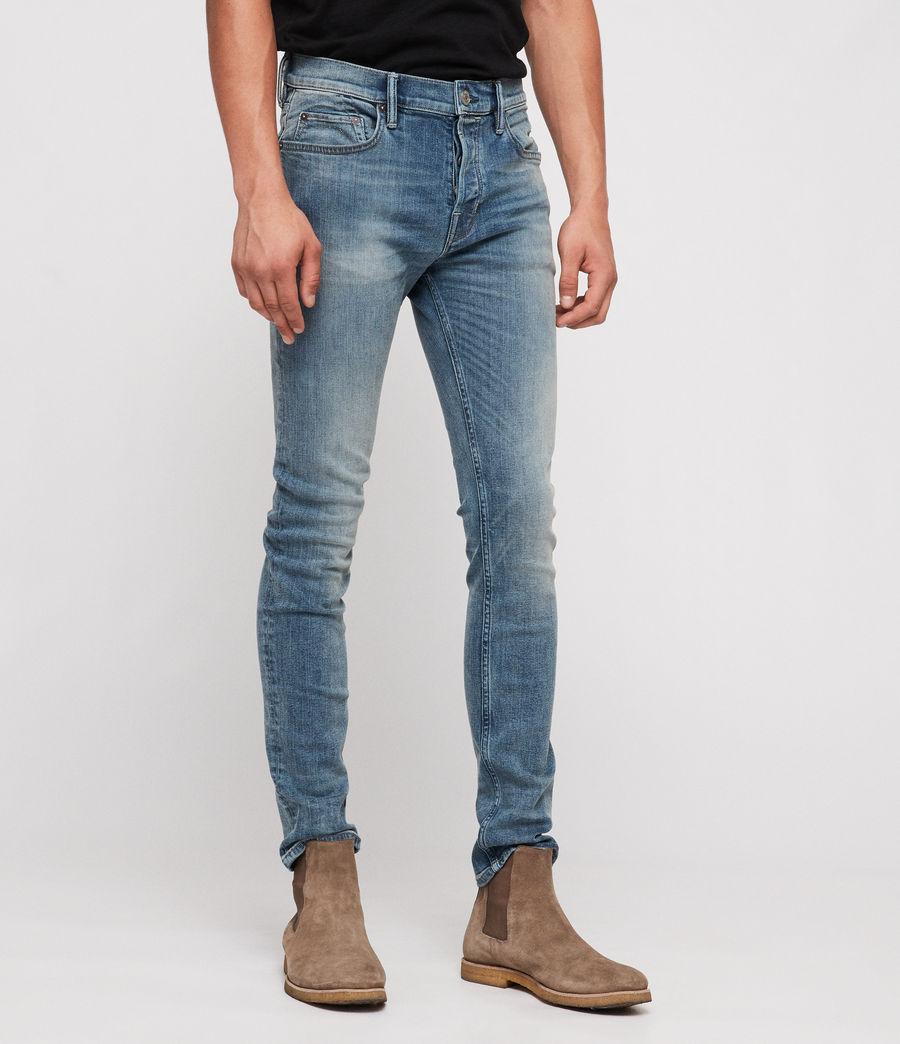 Mens Cigarette Skinny Jeans (mid_indigo) - Image 3