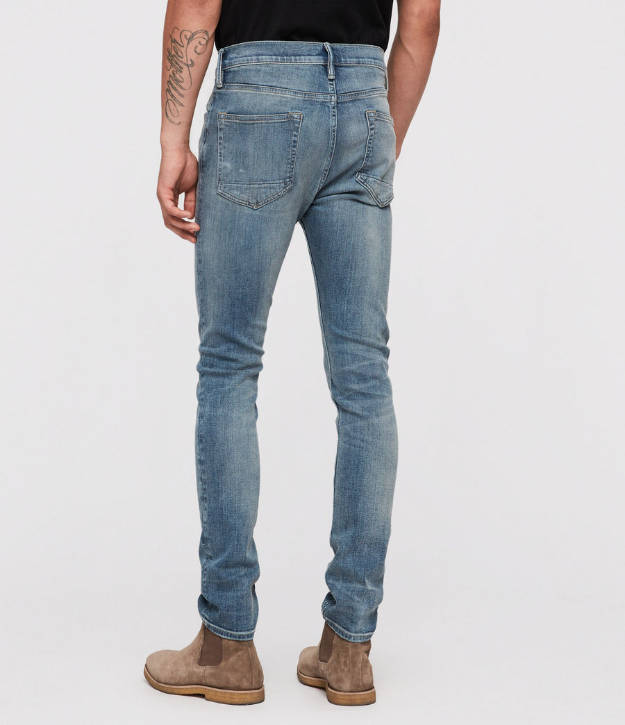 Mens Cigarette Skinny Jeans (mid_indigo) - Image 4