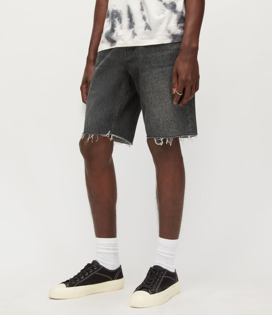 Hombres Switch Denim Shorts (washed_black) - Image 2