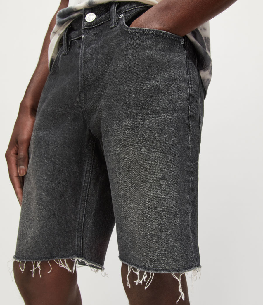 Hombres Switch Denim Shorts (washed_black) - Image 3