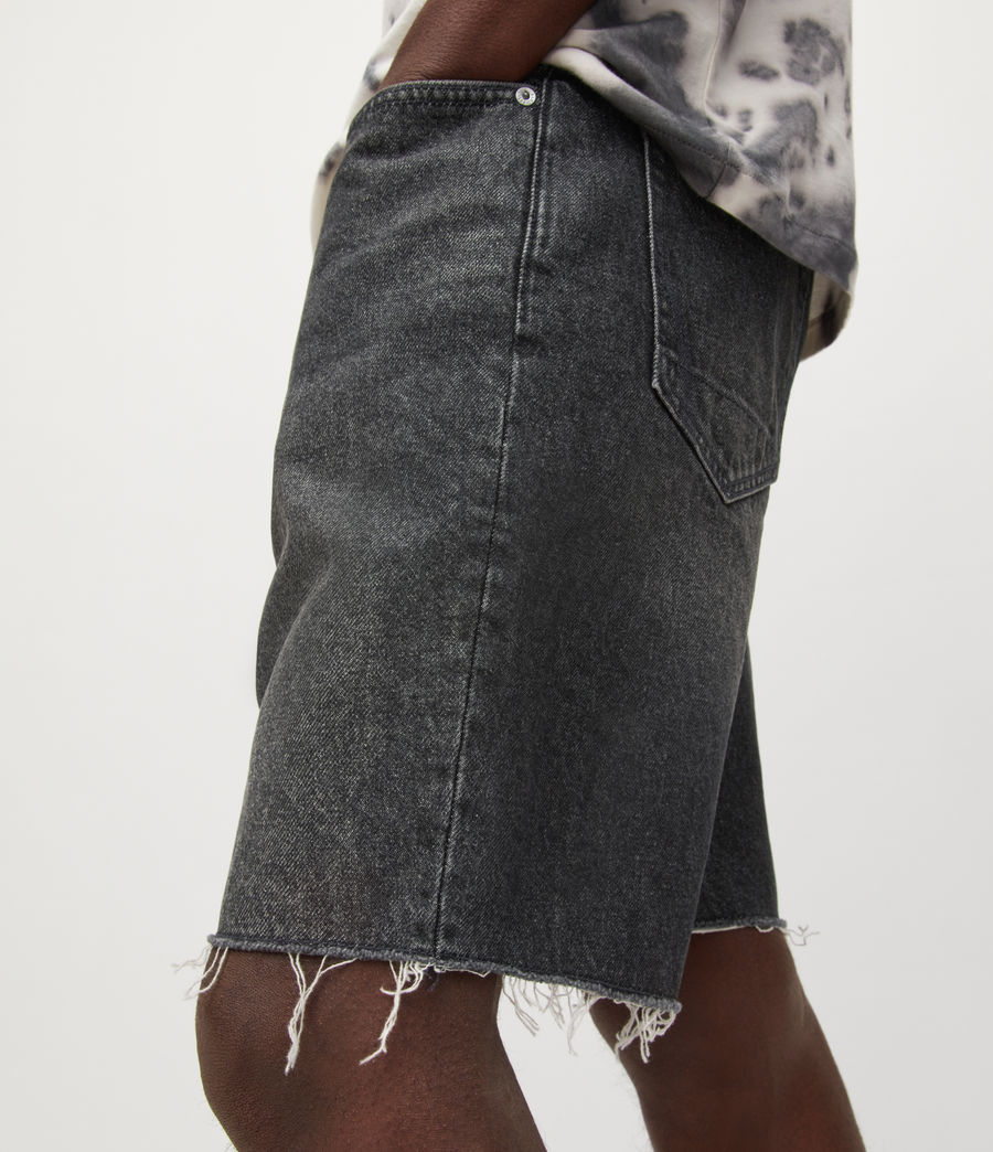 Hombres Switch Denim Shorts (washed_black) - Image 4
