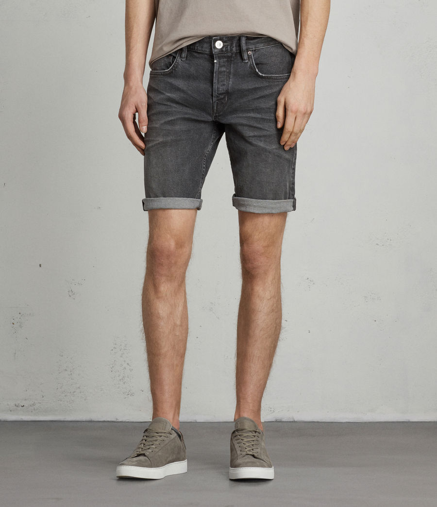 Herren Genesee Switch Jeans-Shorts (grey) - Image 1